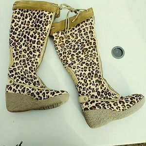 Cole Haan Leopard Tall Boots